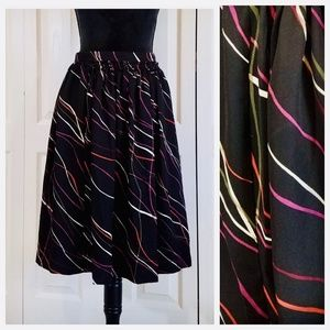 Black with colorful swirls skirt
